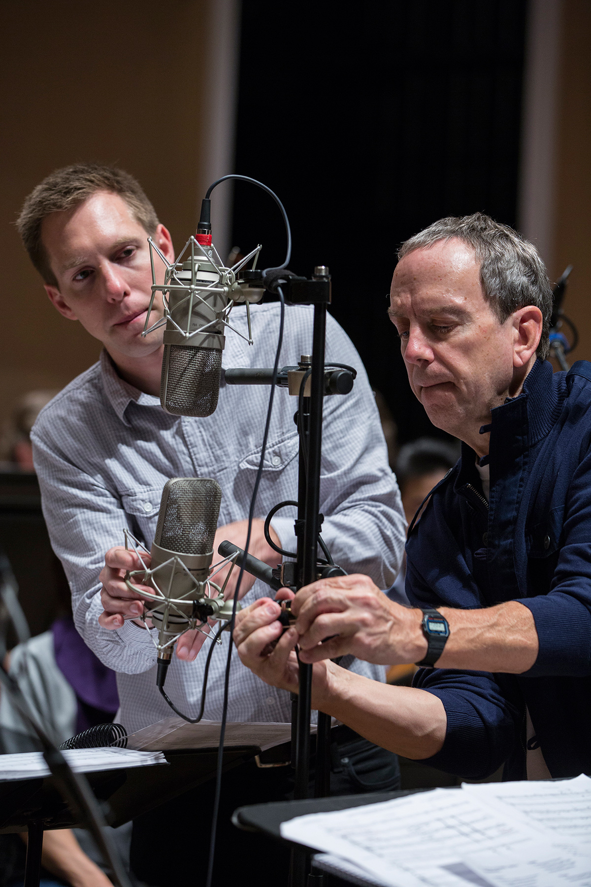 Brian Losch and Tim Martyn recording classical