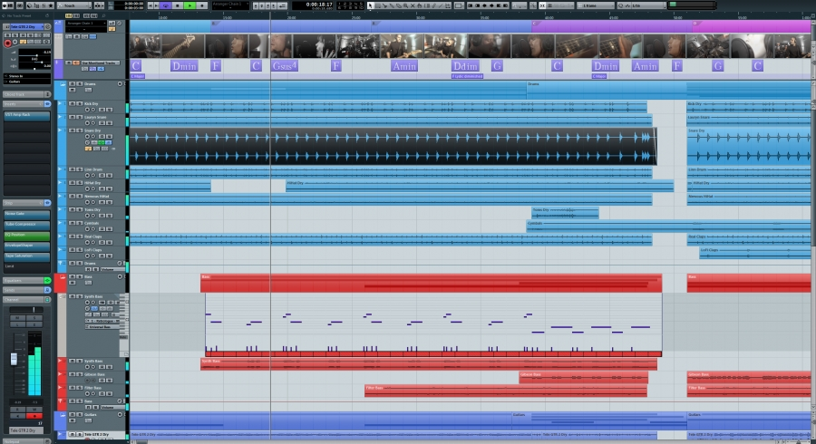 Cubase Screenshot -Choosing A Digital Audio Workstation (DAW)
