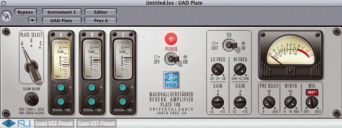 UAD EMT 140 Plate Reverb emulation Plugin