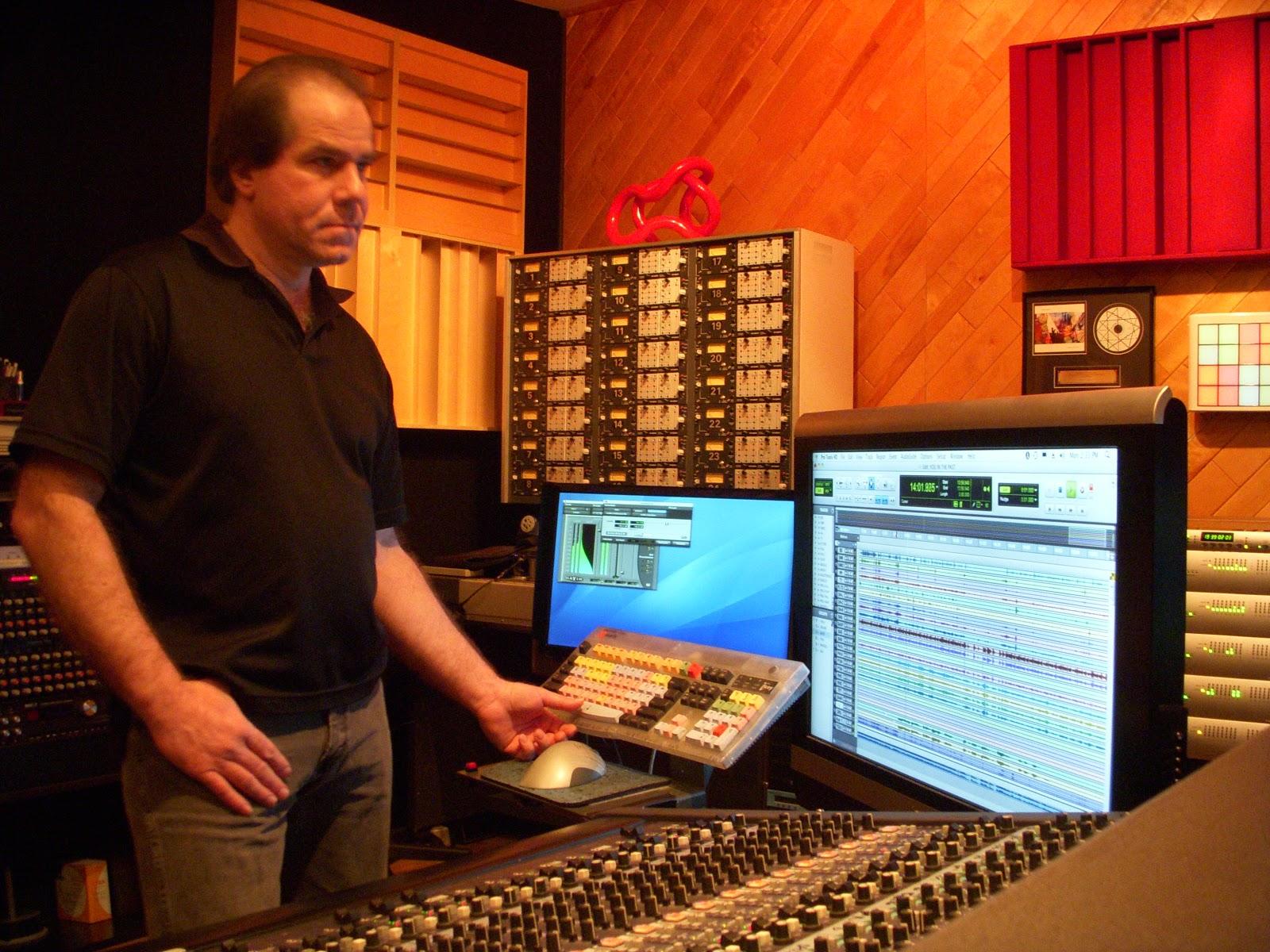 Mike Marciano in studio - 5 Top Classical & Jazz Mix Engineers