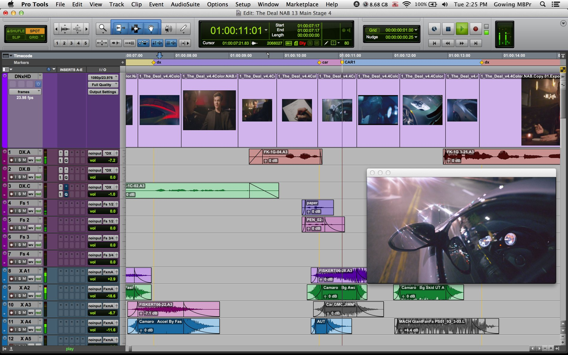 Pro Tools Screenshot -Choosing A Digital Audio Workstation (DAW)