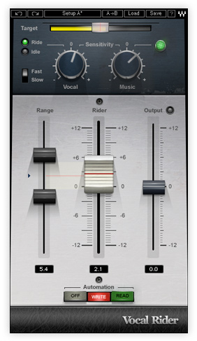 Waves Vocal Rider plugin