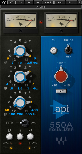 Waves API 550 A Equalizer plugin