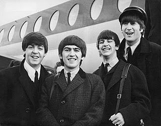 The Beatles off the plane photo - Name That Mic - Celebrity Microphone Trivia!