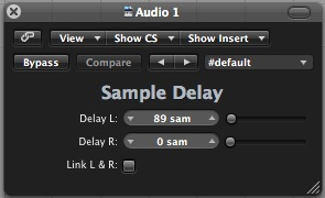 Logic Sample Delay Plugin